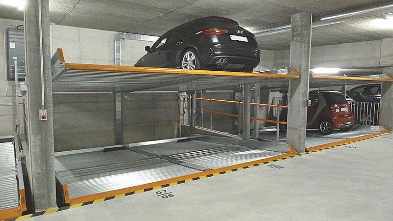 Bãi đỗ xe 2 tầng dành cho gia đình SGparking