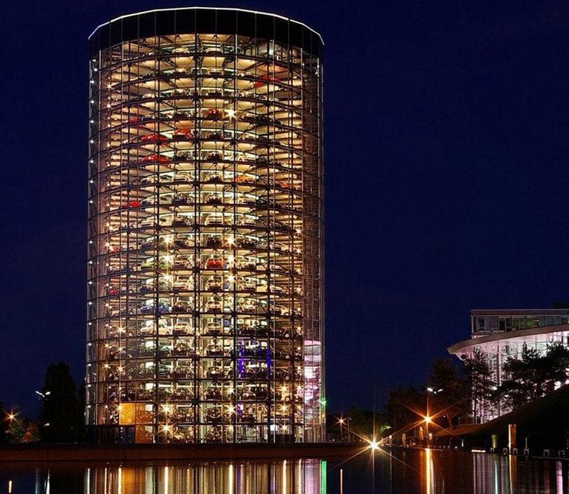 Bãi đỗ xe dạng tháp trụ tại các nước phát triển