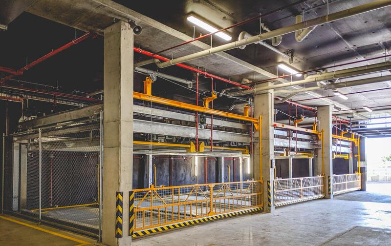 Bãi đỗ xe tự động lắp trong hầm chung cư