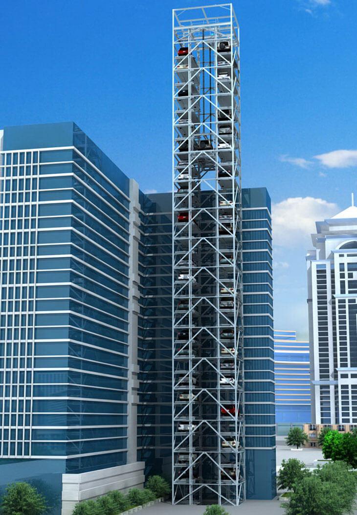 Hệ thống đỗ xe dạng tháp đang là xu hướng của tương lai