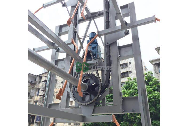 Hệ thống xích vận trong cơ cấu bãi đỗ xe xoay vòng đứng