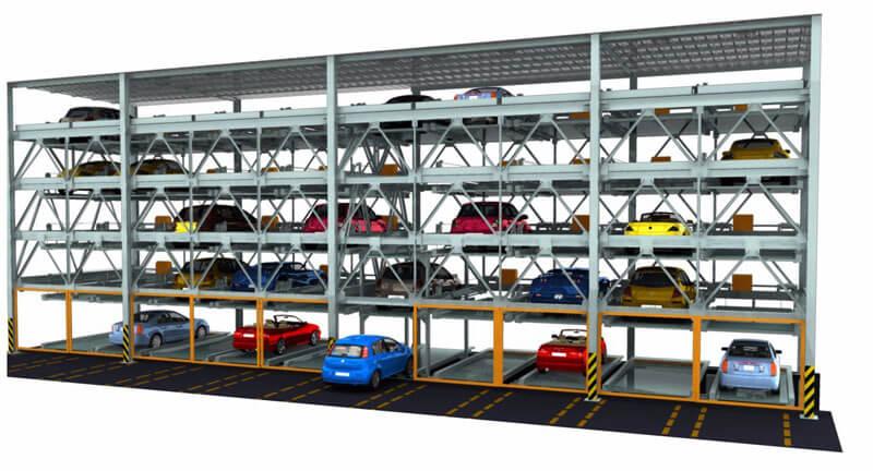 Mô hình bãi đỗ xe tự động dạng xếp hình