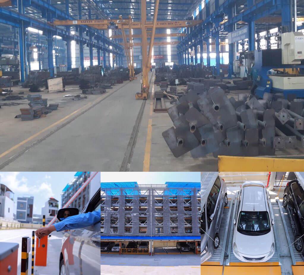 Nhà máy sản xuất hệ thống đỗ xe tự động SGparking