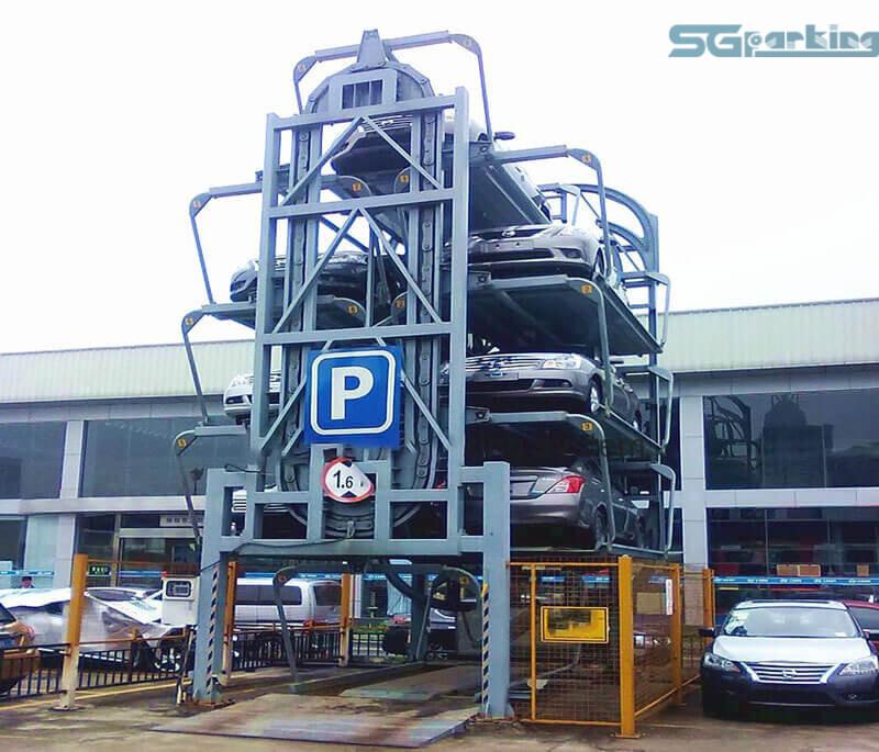 Vị trí xây dựng bãi đỗ xe xoay vòng đứng SGparking