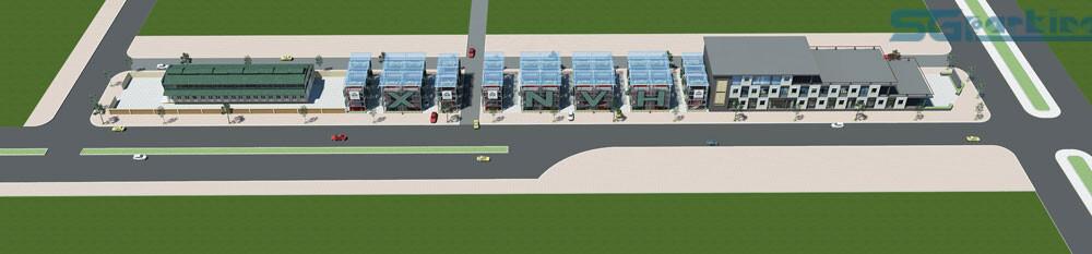 Bản thiết kế bãi đỗ xe thông minh tại đường nguyễn văn huyên