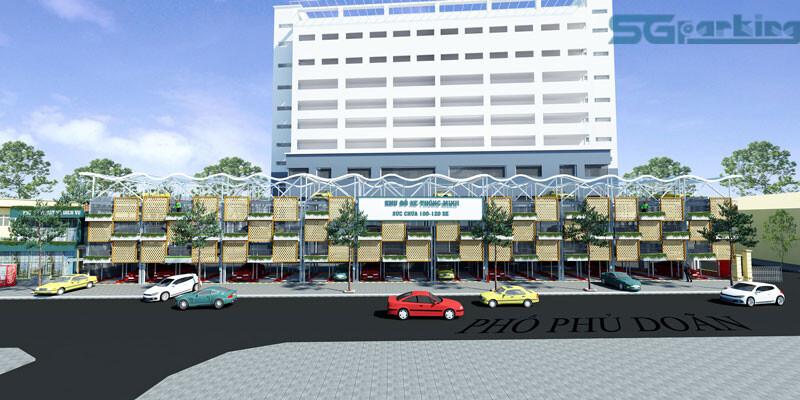 Mô hình xây dựng bãi đỗ xe tự động tại bệnh việt Việt Đức