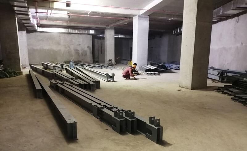 Tập kết link kiện bãi đô xe tự động trong hầm